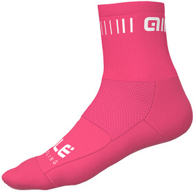 Alé Cycling Strada Socks 12cm, flou pink-white